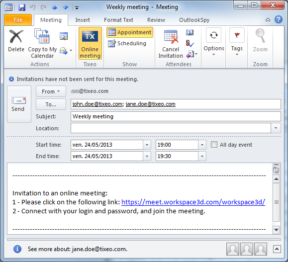 how to un cancel a meeting in outlook