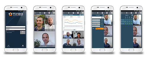 Tixeo launches its new secure Videoconferencing Android app - Tixeo