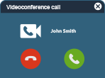 Tixeo videoconferencing - Call mode
