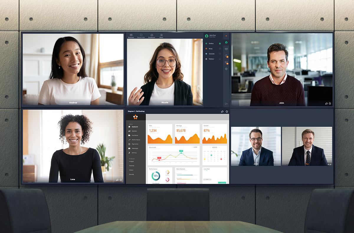 Affichage multi-écrans intelligent et téléprésence - Espace presse Tixeo